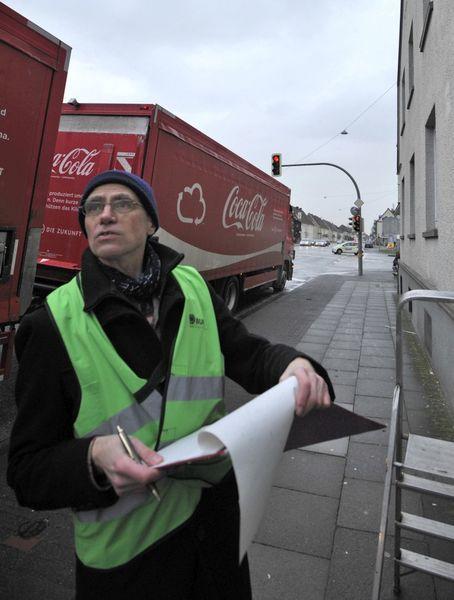 Jens Jürgen Korff bei einer Messung in der Heeper Straße