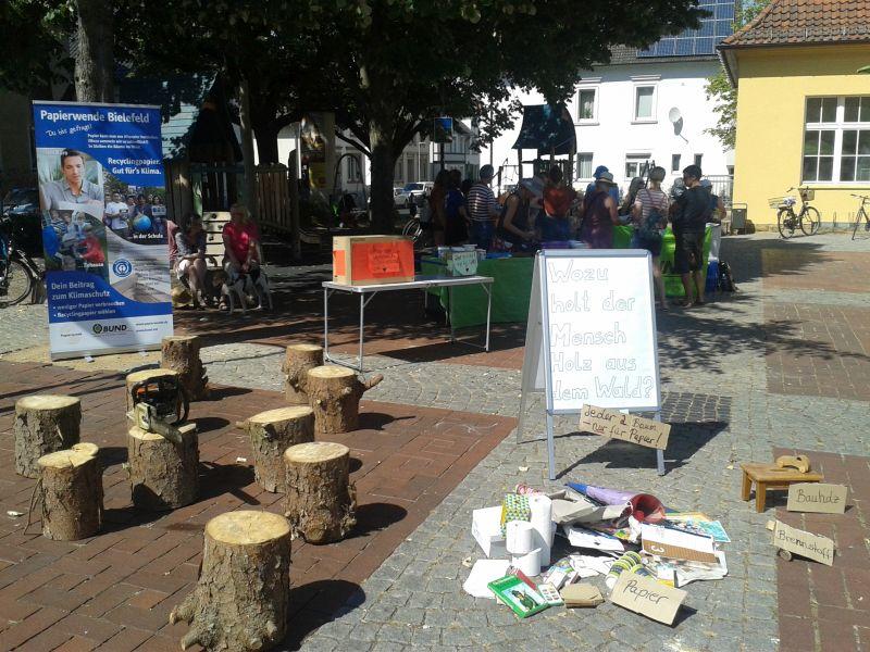 BUND-Stand für Papierwende Siegfriedplatz 4.8.2018